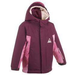 兒童滑雪外套PNF 500 - 紫紅色與粉色
