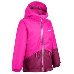 Skijacke 100 Kinder rosa
