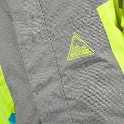 Ski-jas voor kinderen PNF 500 grijs/geel