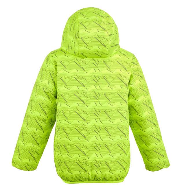 CHILDREN'S SKI JACKET WARM REVERSE 100 - GREY AND YELLOW