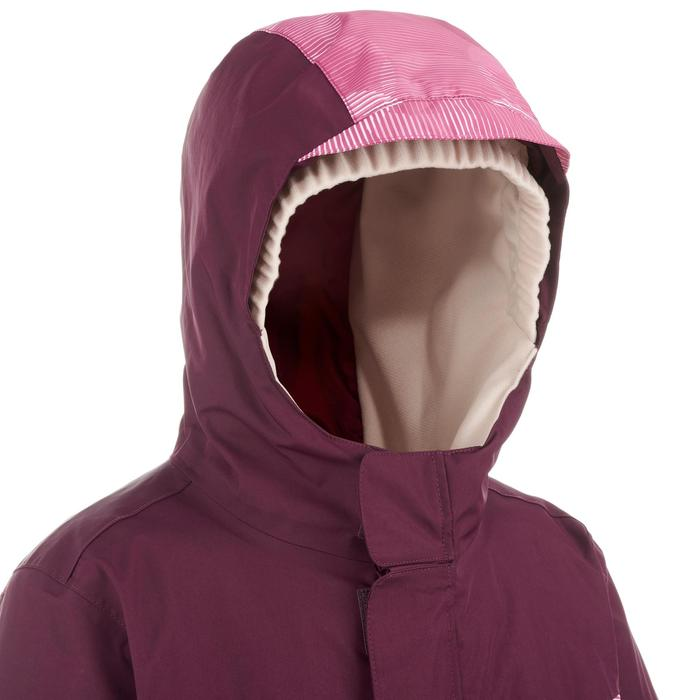 Ski-jas voor kinderen PNF 500 pruimenpaars/roze