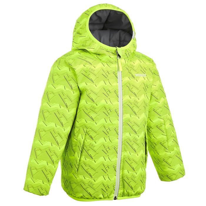 Skijacke warm wendbar 100 Kinder grau/gelb