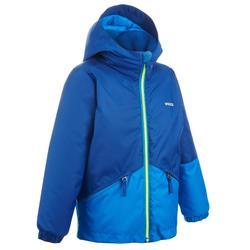 Skijacke Piste 100 Kinder blau