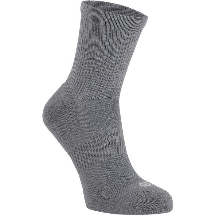 Halfhoge sokken Comfort x2 grijs