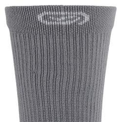 Hardloopsokken halfhoog comfort x2 grijs