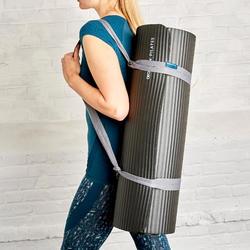Pilates Comfort Mat, Size Large 190cmx70cmx20mm - Black