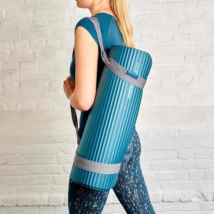Pilatesmatje 100 comfort maat S 10 mm blauw