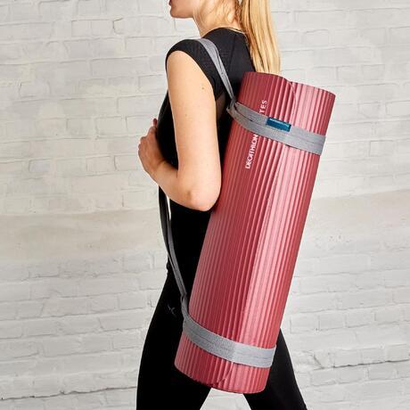 tapis de sol 500 confort pilates taille m 15mm bordeaux. Black Bedroom Furniture Sets. Home Design Ideas