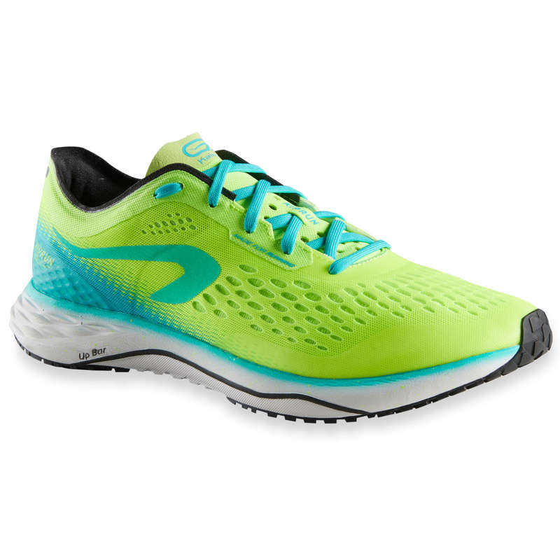 MAN ROAD RUNNING SHOES Running - KIPRUN KD LIGHT M GREEN YELLOW KIPRUN - Running Footwear