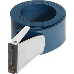 Cinturón Plomo Apnea Freediving FRD500 Azul Cauccho Hebilla Inox.