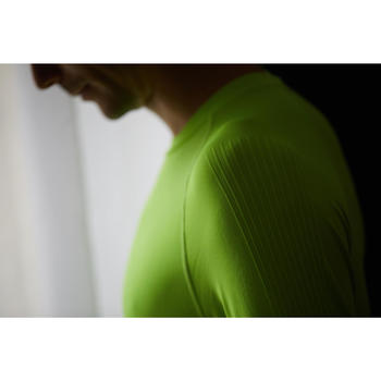 Fietsondershirt met lange mouwen Training geel