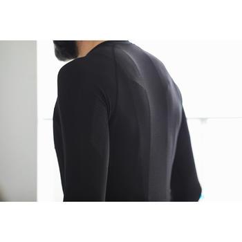 Fietsondershirt met lange mouwen Training zwart