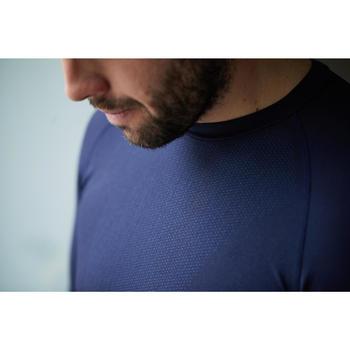 Fietsondershirt met lange mouwen training marineblauw