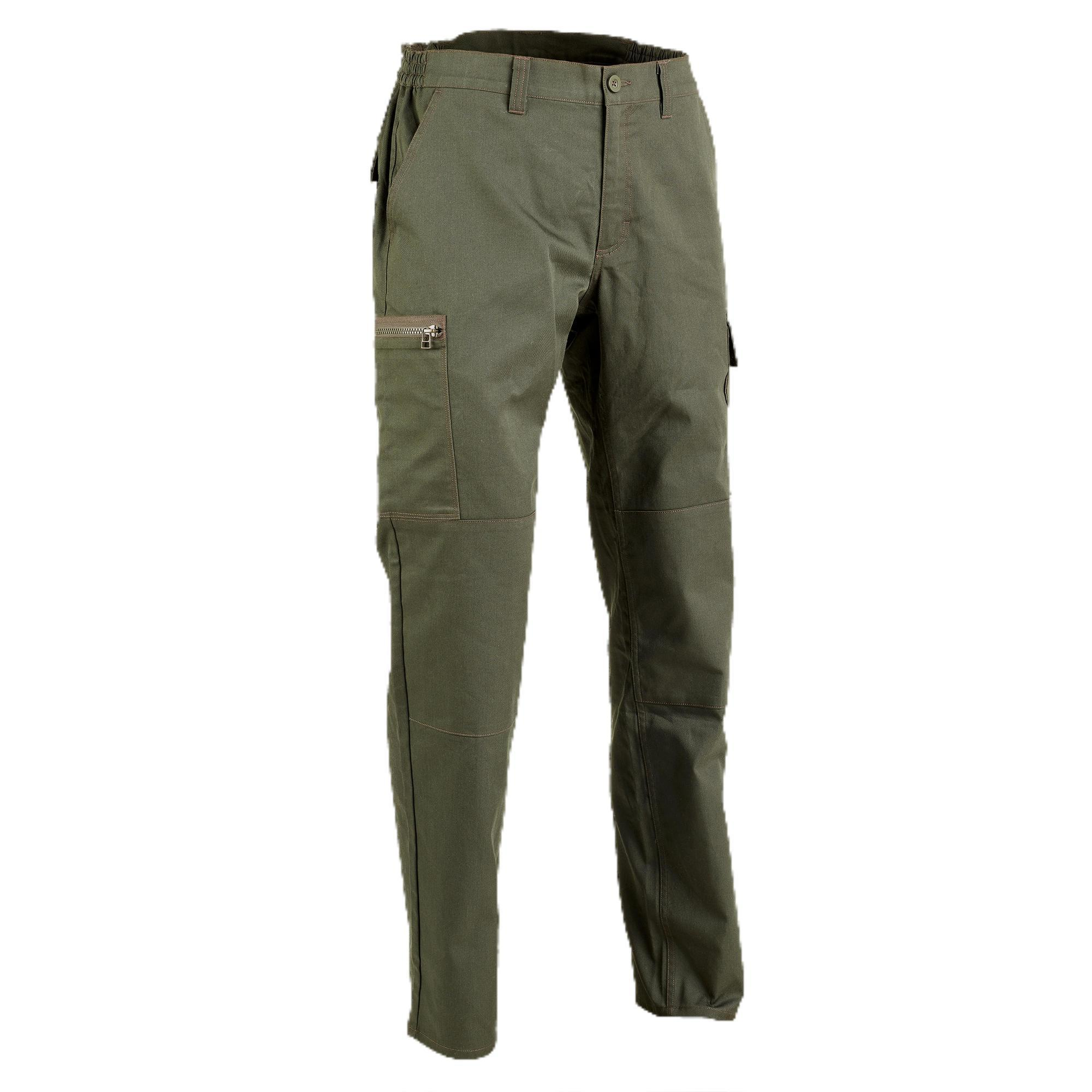 Jagdhose Steppe 300 Limitierte Edition grün   Sportbekleidung > Sporthosen > Trekkinghosen   Solognac