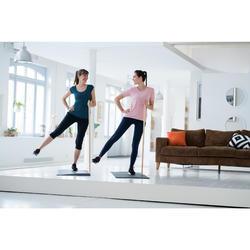 Dameslegging voor pilates en lichte gym 510 piping blauw/roze