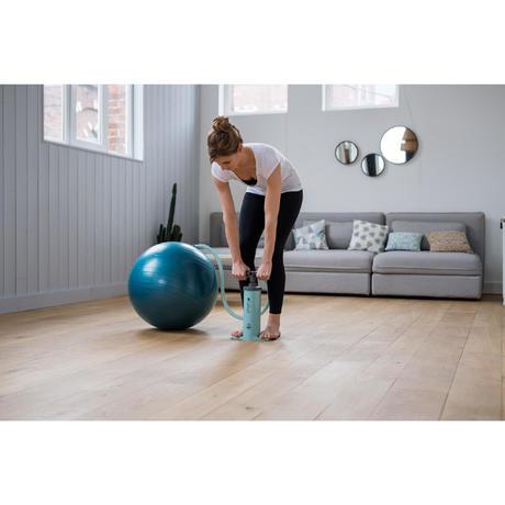 500 pilates large inflate/deflate ball pump 4l  domyos
