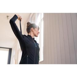 Damesvest Free Move voor pilates en lichte gym zwart