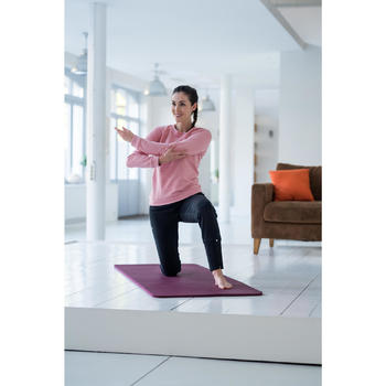 Damesbroek voor lichte gym en pilates 500 Heavy met rits zwart