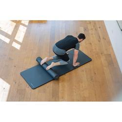 T-shirt voor pilates en lichte gym heren 900 slim fit donkergrijs