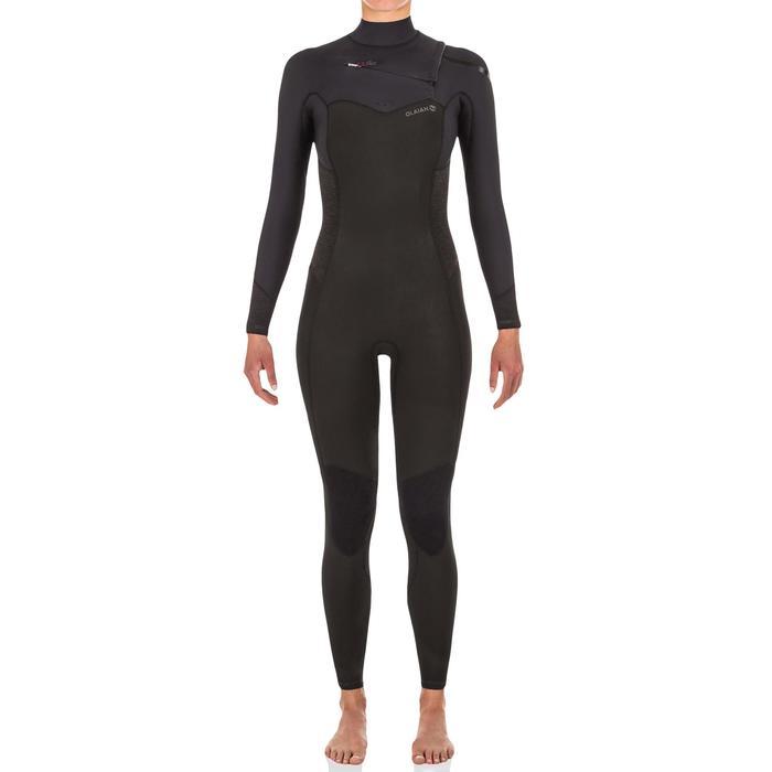 Surfpak voor dames neopreen 4/3 mm rits op de borst Olaian