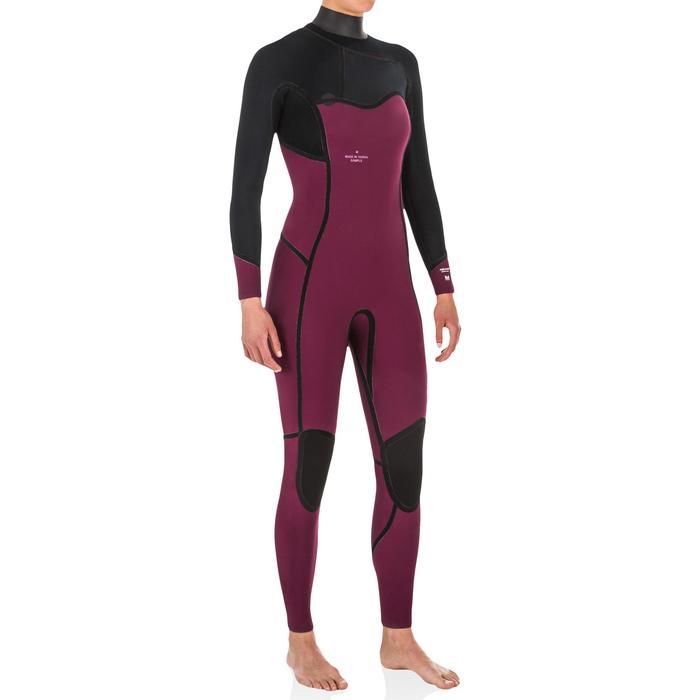 Neoprenanzug Surfanzug 4/3mm nahtverdeckter Reißverschluss Damen