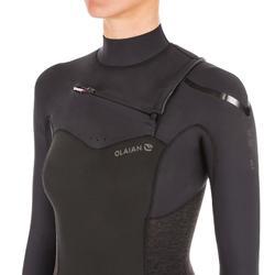 Surfpak voor dames neopreen 4/3 mm blinde rits Olaian