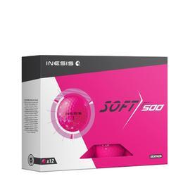 Bola de golf SOFT 500 X12 Rosa