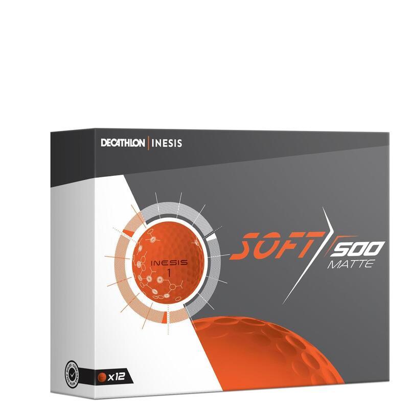 Golfballen Soft 500 Mat x12 oranje