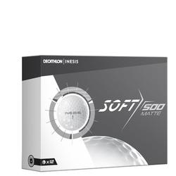 Golfball Soft 500 Matt 12 Stück weiß