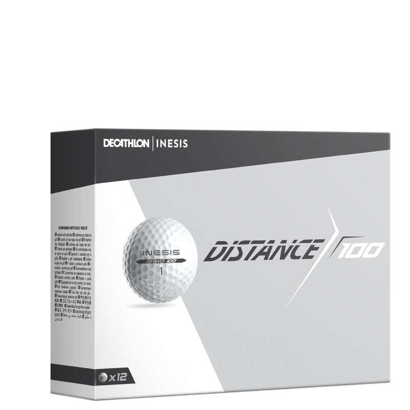 Bolas, Luvas, Tees de Golf Golf - Bola Golf DISTANCE 100 Branco INESIS - Material de Golf