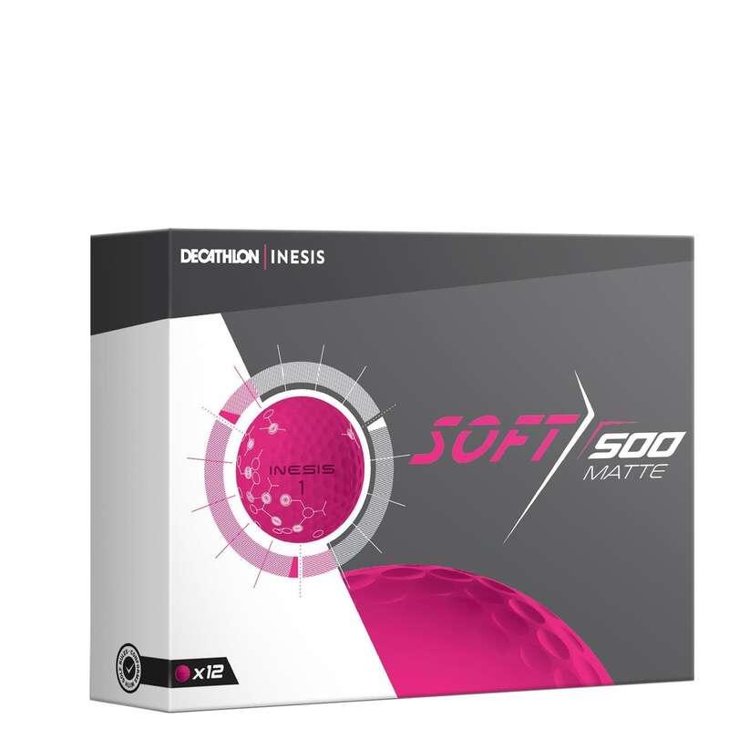 GOLF BALLS, GLOVES, TEES Golf - SOFT 500 MATTE BALL X12 PINK INESIS - Golf Balls and Gloves