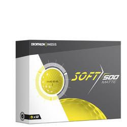 Bola de golf SOFT 500 Mate x12 amarillo