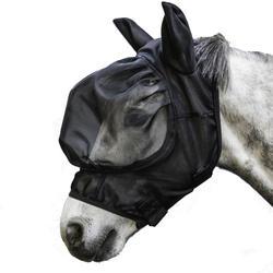 Masque antimouche équitation 500 cheval noir