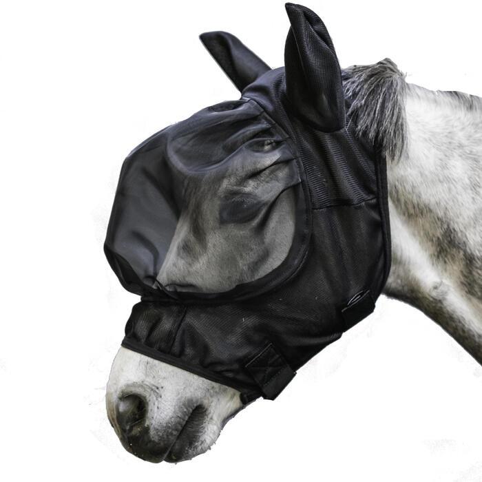 Fliegenmaske 500 Pferd schwarz
