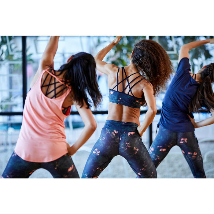 Sporttopje voor dans-workouts dames koraal