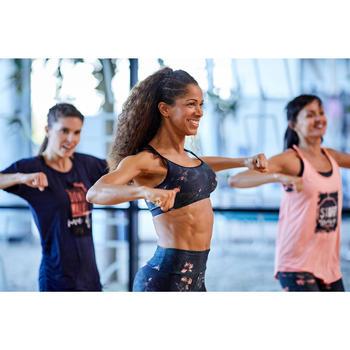 Tanz-Leggings Fitness Dance Damen grün mit rosa Grafikprint