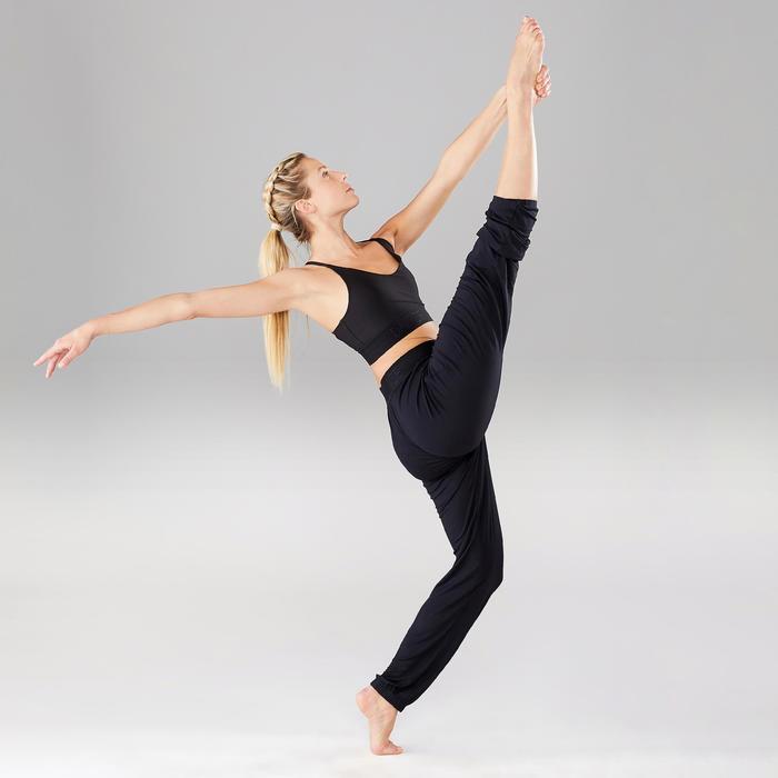 Sporttopje voor moderne dans dames zwart