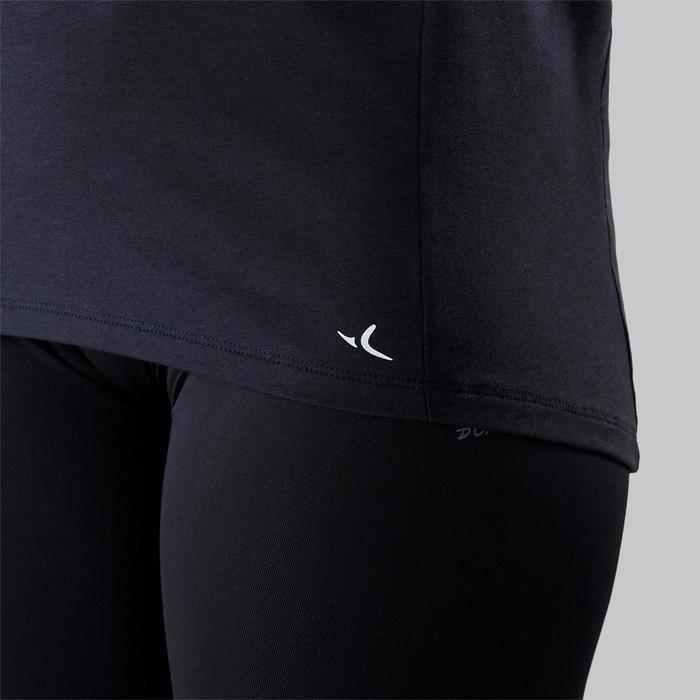T-shirt voor moderne dans dames zwart met tekst