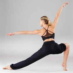 Sporttopje voor dames voor moderne dans zwart