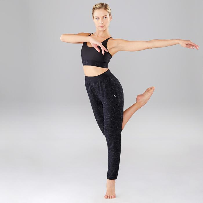 Tanz-Hose fließend Damen schwarz meliert