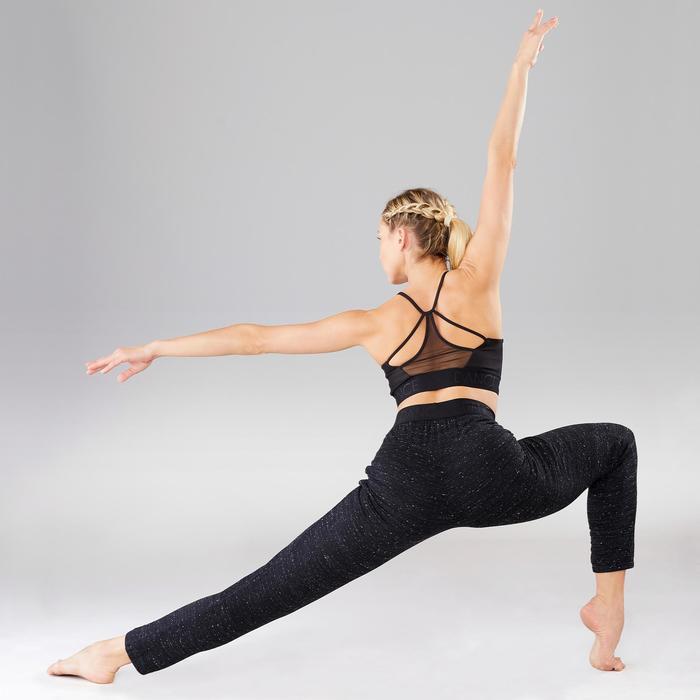 Wortelbroek voor dames voor moderne dans zwart