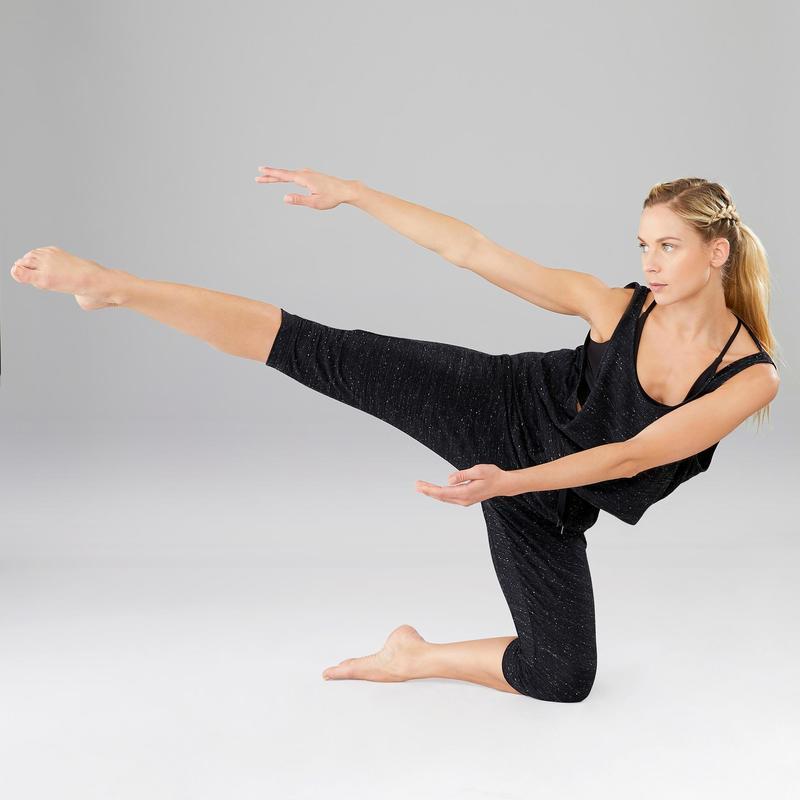 lo último atarse en 60% barato Ropa de danza moderna - Mono de Calentamiento Danza Domyos Mujer Gris  Jaspeado