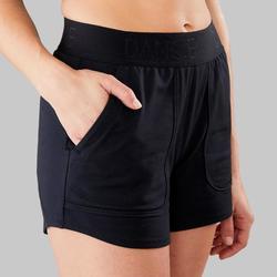 Short negro con cinturón danza moderna mujer
