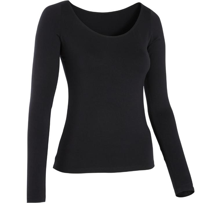 official photos hot new products really comfortable Tee-shirt manches longues femme de danse moderne noir