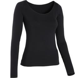 Women's Long-Sleeved Modern Dance T-Shirt - Black
