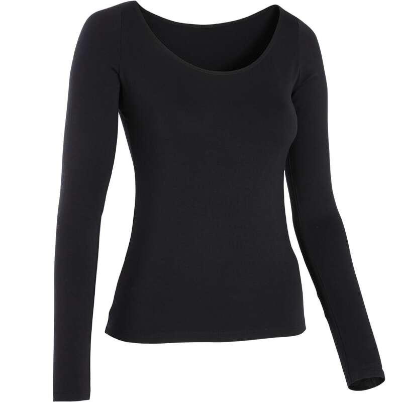 ABBIGLIAMENTO DANZA MODERNA DONNA Danza moderna - T-shirt donna danza nera DOMYOS - Danza moderna