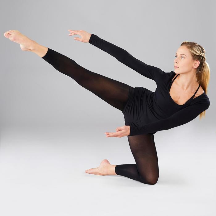 Tee-shirt manches longues femme de danse moderne noir