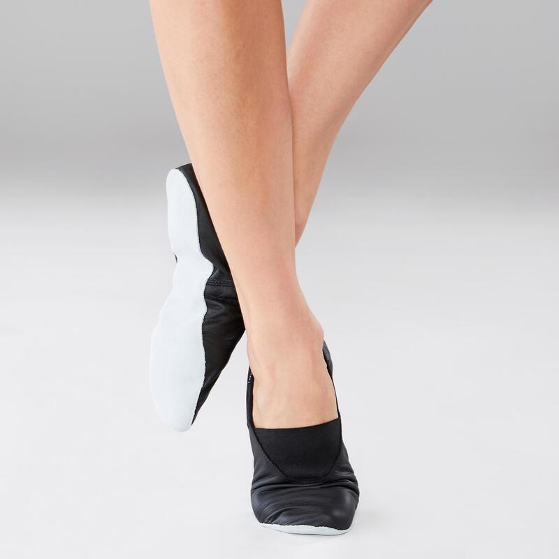 Zapatillas de danza modern'jazz de piel flexible T. 30-40