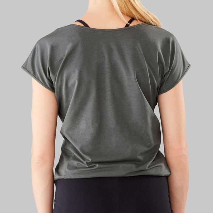 Tee-shirt à message femme danse moderne olive noir