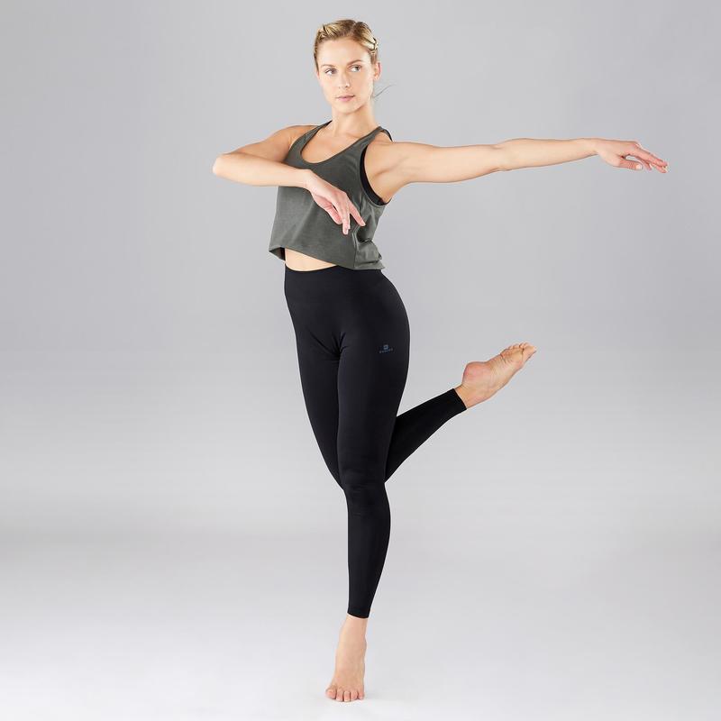 Women S Seamless Modern Dance Leggings Black Domyos By Decathlon